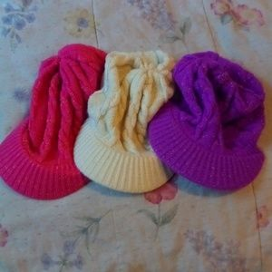 Accessories - Knit Brimmed Hat Trio